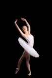 Klassieke ballerina in een witte rok Stock Afbeelding