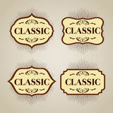 Klassieke banner voor embleem of teken Stock Foto's