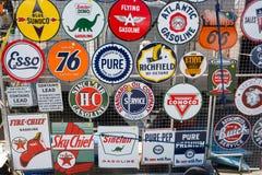 Klassieke Benzine Reclame Stock Foto's