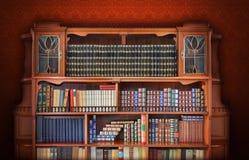 Klassieke bibliotheek. Antiek Meubilair Royalty-vrije Stock Afbeeldingen