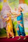 Klassieke Birmaanse dans Royalty-vrije Stock Afbeeldingen