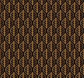 Klassieke Bladeren Art Deco Seamless Pattern Geometrische Blad Modieuze Textuur Abstracte Veer Retro Vectortextuur royalty-vrije illustratie