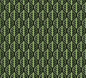 Klassieke Bladeren Art Deco Seamless Pattern Geometrische Blad Modieuze Textuur Abstracte Veer Retro Vectortextuur vector illustratie