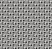 Klassieke Bladeren Art Deco Seamless Pattern Geometrische Blad Modieuze Textuur Abstracte Veer Retro Vectortextuur stock illustratie
