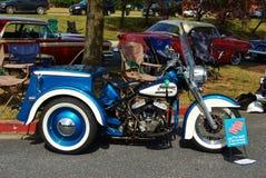 Klassieke Blauwe Harley Davidson Stock Afbeelding