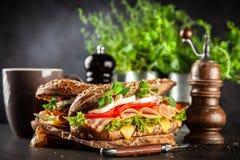 Klassieke BLT-sandwiches royalty-vrije stock foto's
