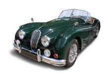 Klassieke Britse Sportenauto geïsoleerd Jaguar royalty-vrije stock afbeelding
