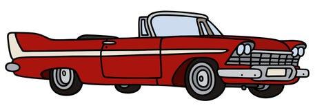 Klassieke cabriolet vector illustratie