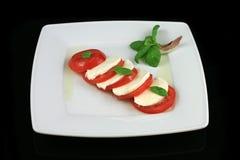 Klassieke caprese salade Royalty-vrije Stock Fotografie