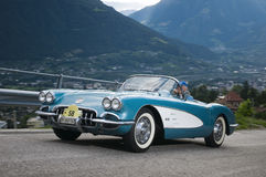 Klassieke cars_2014_Chevrolet Korvet het Zuid- van Tirol Royalty-vrije Stock Afbeeldingen
