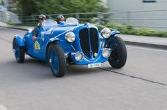 Klassieke cars_Jaguar E cabrio Zuid- van Tirol Stock Fotografie