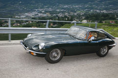 Klassieke cars_2014_Jaguar E Type het Zuid- van Tirol Royalty-vrije Stock Fotografie