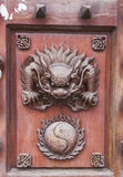Klassieke Chinese meubilairdecoratie Royalty-vrije Stock Fotografie
