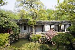 Klassieke Chinese tuin Stock Foto's