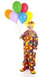 Klassieke Clown met Ballons Stock Foto