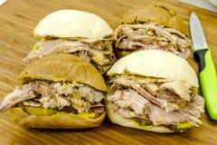 Klassieke Cubaanse Medianoche-Sandwiches Royalty-vrije Stock Afbeelding