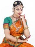 Klassieke danser van India stock fotografie