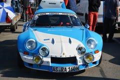 Klassieke de sportwagenvoorzijde van Renault Alpine A110 Berlinette Stock Foto