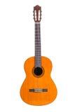 Klassieke die gitaar op wit wordt geïsoleerd Stock Foto's