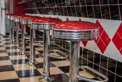 Klassieke Diner Barkrukken Royalty-vrije Stock Afbeelding