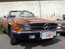 Klassieke Duitse convertibele auto, Mercedes Benz Stock Afbeeldingen