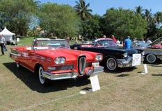 Klassieke Edsel in rij van auto's Royalty-vrije Stock Afbeelding