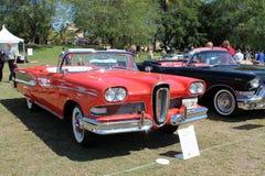 Klassieke Edsel in rij van auto's Royalty-vrije Stock Fotografie