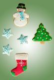Klassieke eigengemaakte peperkoekkoekjes Stock Foto's