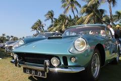 Klassieke Ferrari-sportwagensopstelling Royalty-vrije Stock Foto's