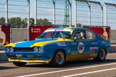 Klassieke Ford Capri-raceauto Royalty-vrije Stock Foto