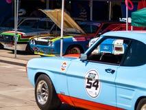 Klassieke Ford Capri-raceauto Royalty-vrije Stock Afbeelding