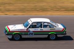 Klassieke Ford Escort-raceauto Stock Afbeelding