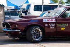 Klassieke Ford Mustang-raceauto Stock Afbeelding