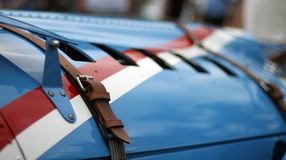 Klassieke Franse raceauto stock foto's