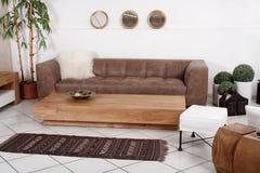 Klassieke furnitures voor modern binnenland Stock Foto