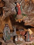 Klassieke Geboorte van Christusscène met Jesus, Joseph en Mary 4 Stock Afbeeldingen