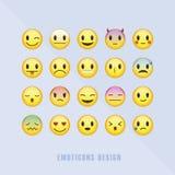 Klassieke geplaatste emoticons stock illustratie