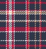 Klassieke geruite Schotse wollen stofstof stock illustratie