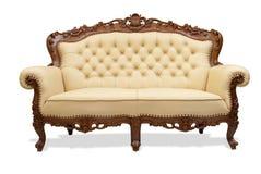 Klassieke gesneden houten stoel Royalty-vrije Stock Afbeeldingen