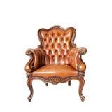 Klassieke gesneden houten stoel Stock Foto