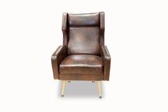 Klassieke gesneden houten stoel Stock Afbeeldingen