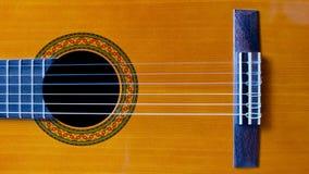 Klassieke gitaarclose-up stock afbeeldingen