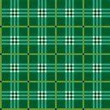 Klassieke groene geruite Schotse wollen stofstof Royalty-vrije Stock Fotografie