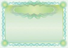 Klassieke guilloche grens voor diploma of certificaat vector illustratie