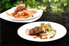 Klassieke het Rundvleesvleespen van Nachos & BBQ Royalty-vrije Stock Fotografie