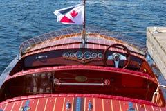 Klassieke houten boot Stock Foto