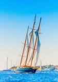 Klassieke houten varende boot Stock Fotografie