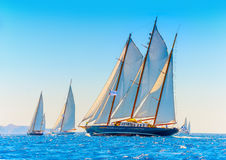 Klassieke houten varende boot Royalty-vrije Stock Afbeelding