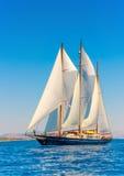 Klassieke houten varende boot Stock Foto's
