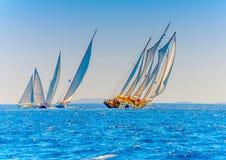 Klassieke houten varende boten Royalty-vrije Stock Afbeelding